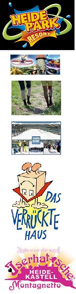 Freizeitparks©Heidepark Soltau Magicpark Verden Barfußpark Egestorf Ralf Schumacher Kart & Bowl Snow Dome Bispingen Das Verrückte Haus Iserhatsche